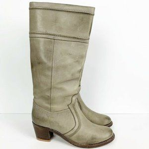 Frye Jane 14L Knee High Gray Leather Boots